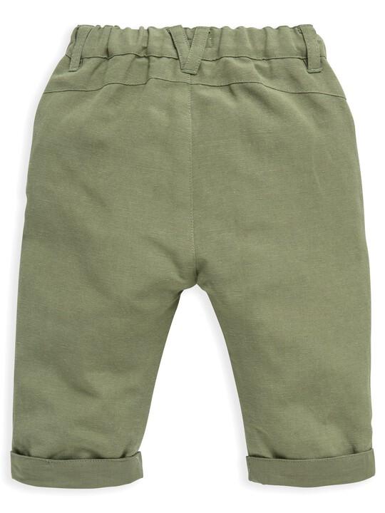 Khaki Linen Trousers image number 2