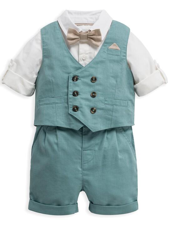 4 Piece Waistcoat & Shorts Set image number 1