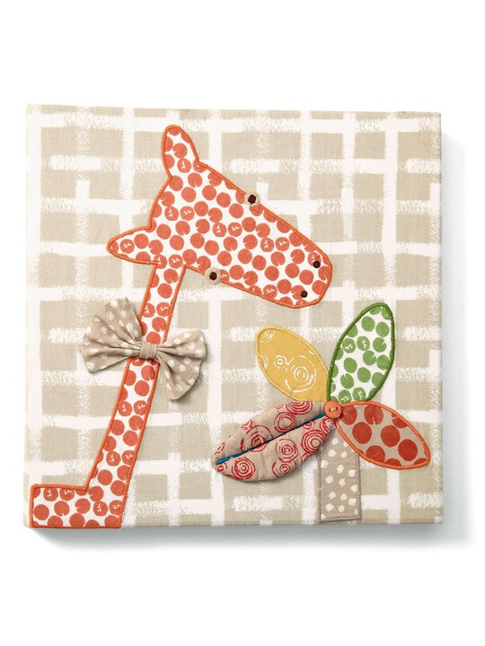 Zam Bee Zee - Embroidered Giraffe Canvas Picture image number 1